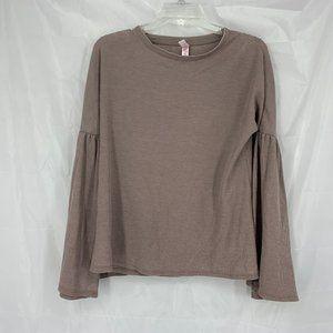 Xhilaration Sz XS or S Tan Long Sleeve Sleep Shirt